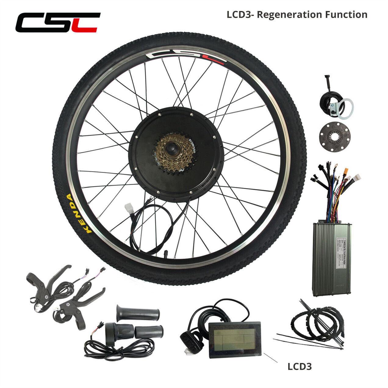 Electric E Bike Conversion Kit 48V 1000W 1500W Bicycle Motor Wheel blueetooth