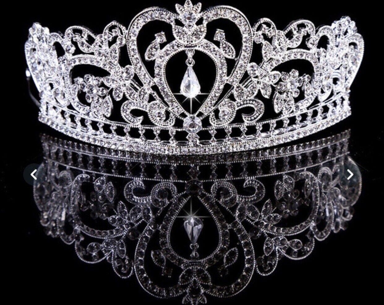 🇮🇪pretty Wedding Communion Tiara 61/2 Cm Silver Shipped From Ireland