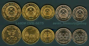Image Is Loading Vietnam 5 Coin 2003 Set Complete 200 500