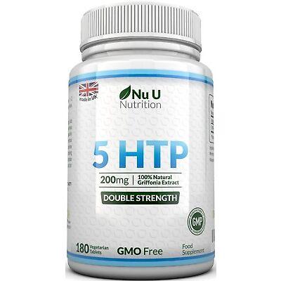 5HTP 200mg 180 Tablets 5 htp Natural Serotonin 5-HTP 100% Money Back Guarantee