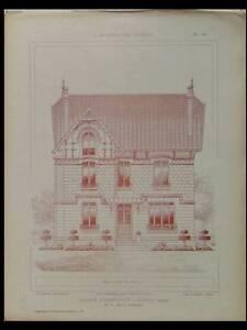 CHANTILLY, SCEAUX, BELLERIVE -1925- PLANCHES ARCHITECTURE- DELBEE, REIGE - France - Période: XXme et contemporain - France