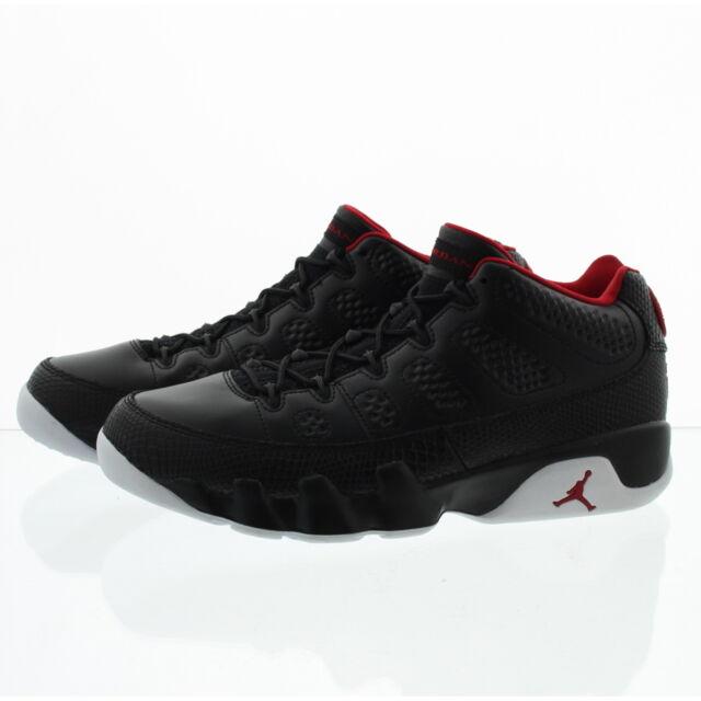 free shipping 3a9ff 7a817 Nike Air Jordan 9 Retro Low Mens 13 Black Gym Red White 832822 001