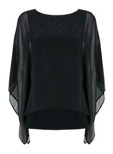 Brand-New-Ex-Wallis-Black-Embellished-Button-Layered-Top-Blouse-RRP-38