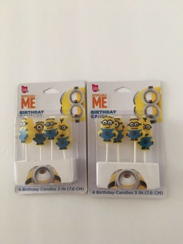 Cake Mate Despicable Me Minions Birthday Candles Party Kids New 2 PK