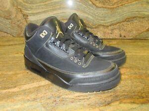2011 Nike Air Jordan 3 III Retro BHM SZ 9 Black Gold History Month ... 9f48b857d098