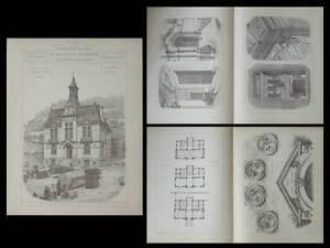 Importé De L'éTranger Chateau Thierry, Mairie - Gravures Architecture 1890 - Breasson