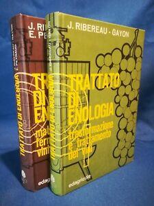 Ribereau - Gayon, Trattato di enologia. Edagricole 2 Volumi completo Perfetto