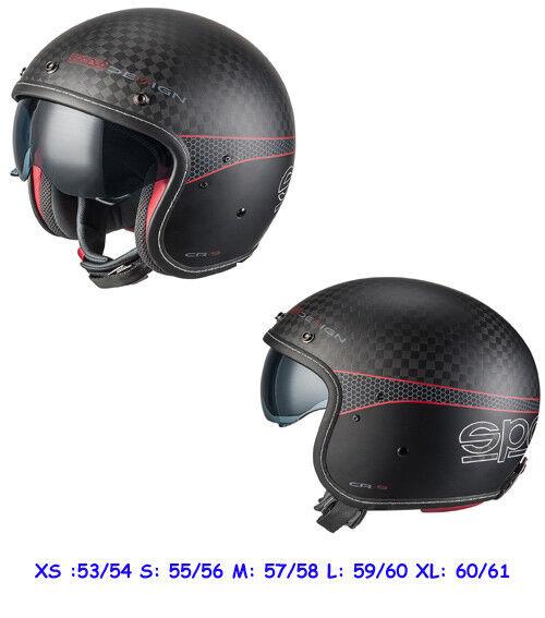 Sparco 0033412MNRRS Cafe Racer Helmet M Carbon