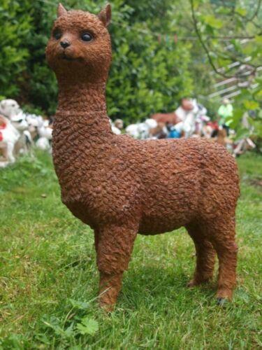 Alpacca Lama Deko Figur Garten naturgetreu Camel wetterfest 56cm//31cm NEUHEIT