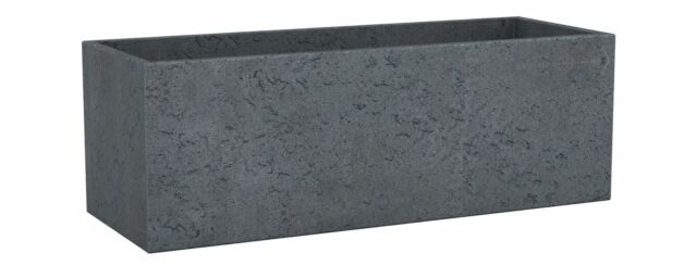 """Scheurich Planter Square 240 /"""" C-Cube /"""" Stone Look Cube Seed Column Box"""