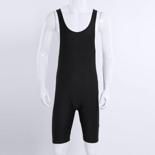 Men Wrestling Singlet Leotard Boxer One Piece Trunks Bodysuit Jumpsuit Underwear