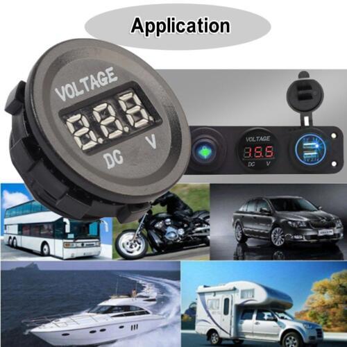 Car Motorcycle 12-24V LCD Display Lighter Voltmeter Voltage Meter Gauge Tester