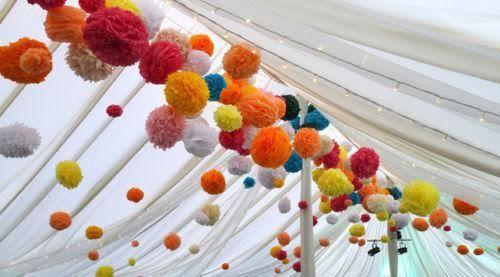 10 Pcs Tissue Paper Pompoms Pom Poms Hanging Garland Wedding Party Decoration
