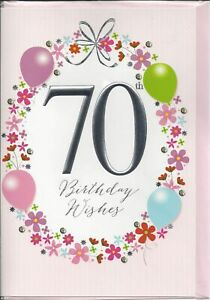 Image Is Loading 70th Birthday Card Female Wishes Balloons