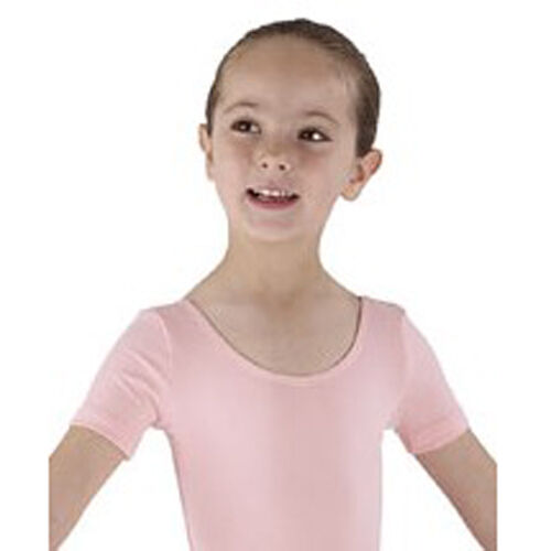 NEW Pink Ballet Leotard - Girls RAD Dance Leotard Uniform, Cotton Short Sleeved