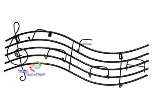 Metall Wandgarderobe Garderobe Notenlinien Violinschlüssel Haken Musik