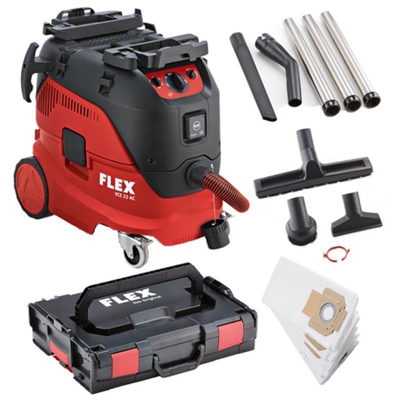 Flex Sicherheitssauger VCE 33 M AC-Kit + Vliesbeutel + L-Boxx + Reinigungsset