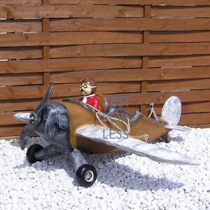 Nostalgie-Retro-Flugzeug-Kunststoff-Modell-Figur-Statue-Skulptur-Luftfahrt-neu