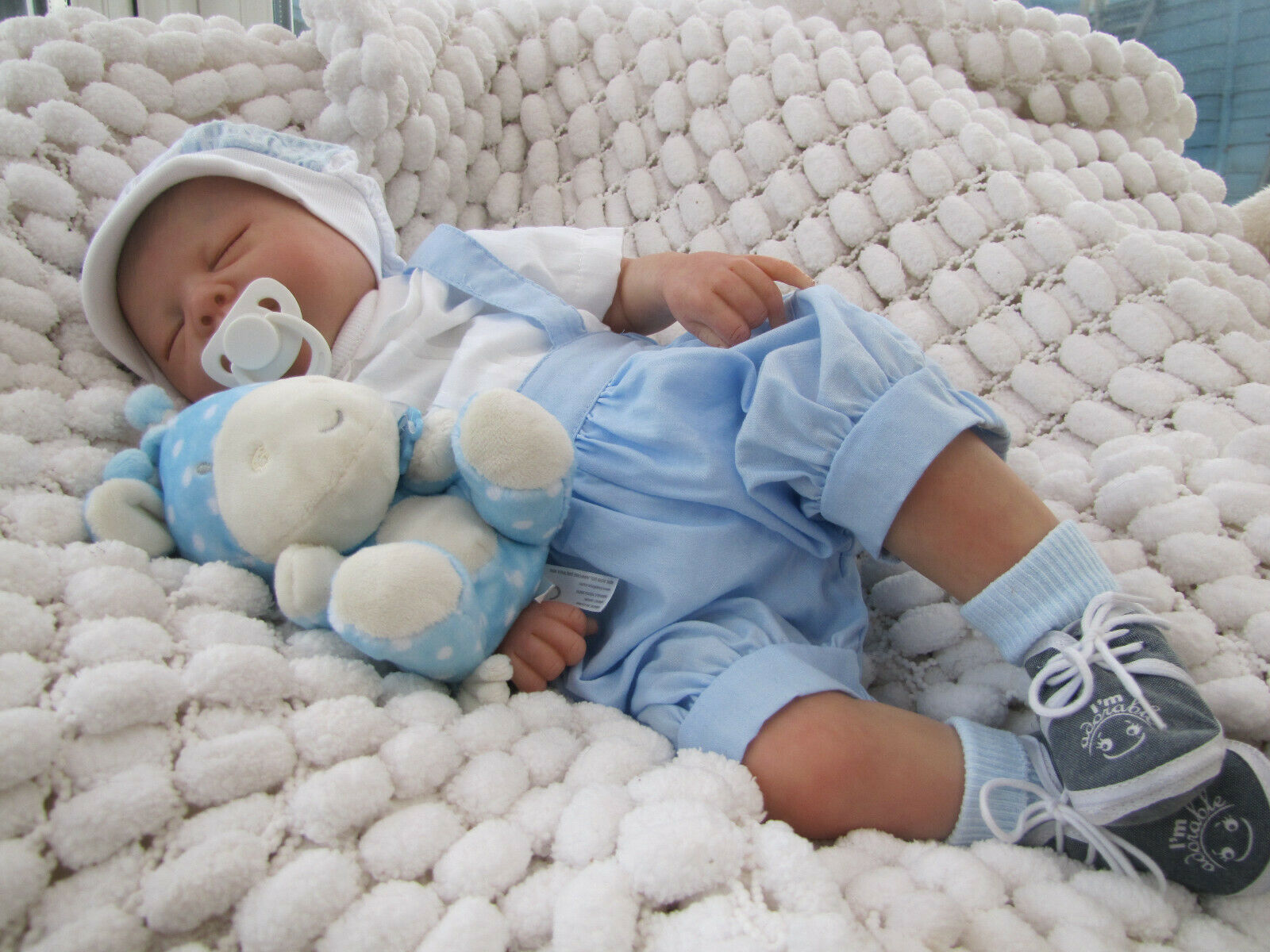 REBORN BABY BOY DOLL & GIFT BAG M FAGAN ROBIN SOFT VINYL SUNBEAMBABIES GHSP