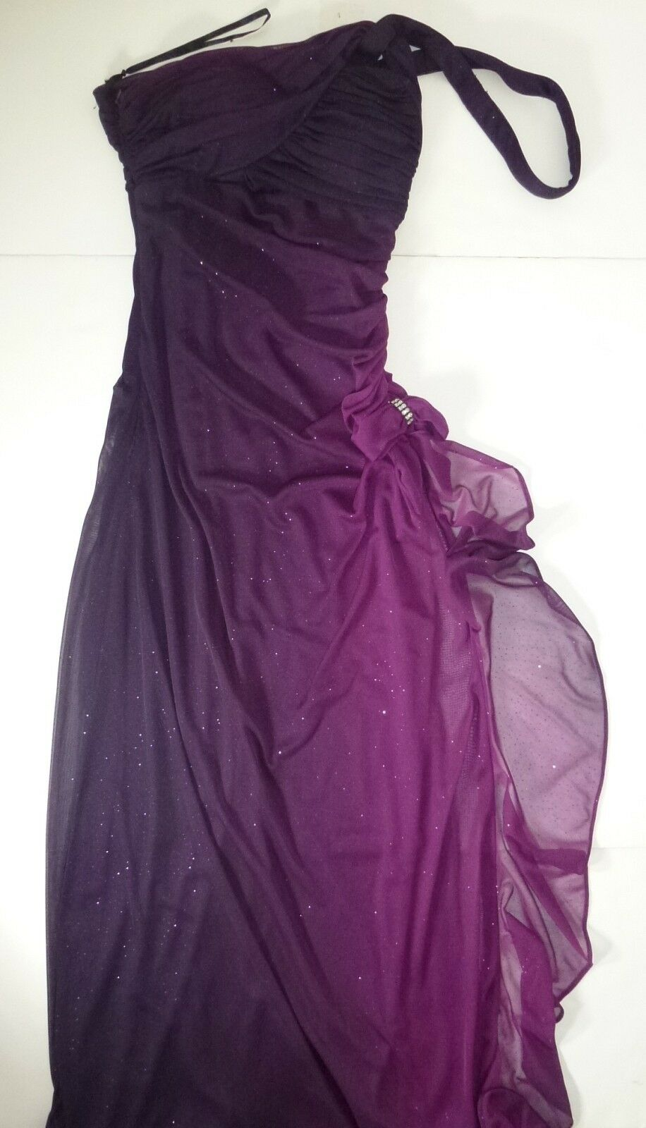NWT BLONDIE WOMENS LADIES PURPLE LONG PROM DRESS SIZE 5 E126