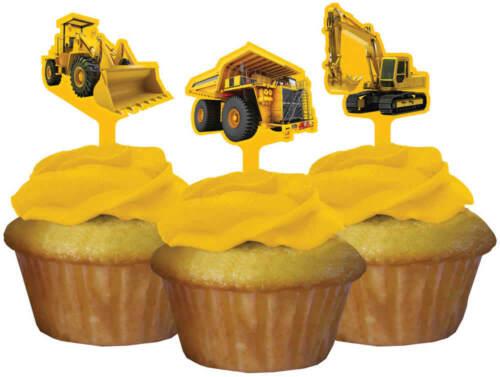 Kinder-Geburtstag Party Deko Feier Fete Motto Baufahrzeuge Baustelle