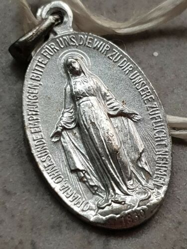 Seltener Mutter Gottes Anhänger aus 835 Silber um 1830 Rarität 8 gramm