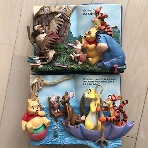 Disney Winnie the Pooh Storybook 3D Wall Art BRADEX Bradford Exchange Set of 2