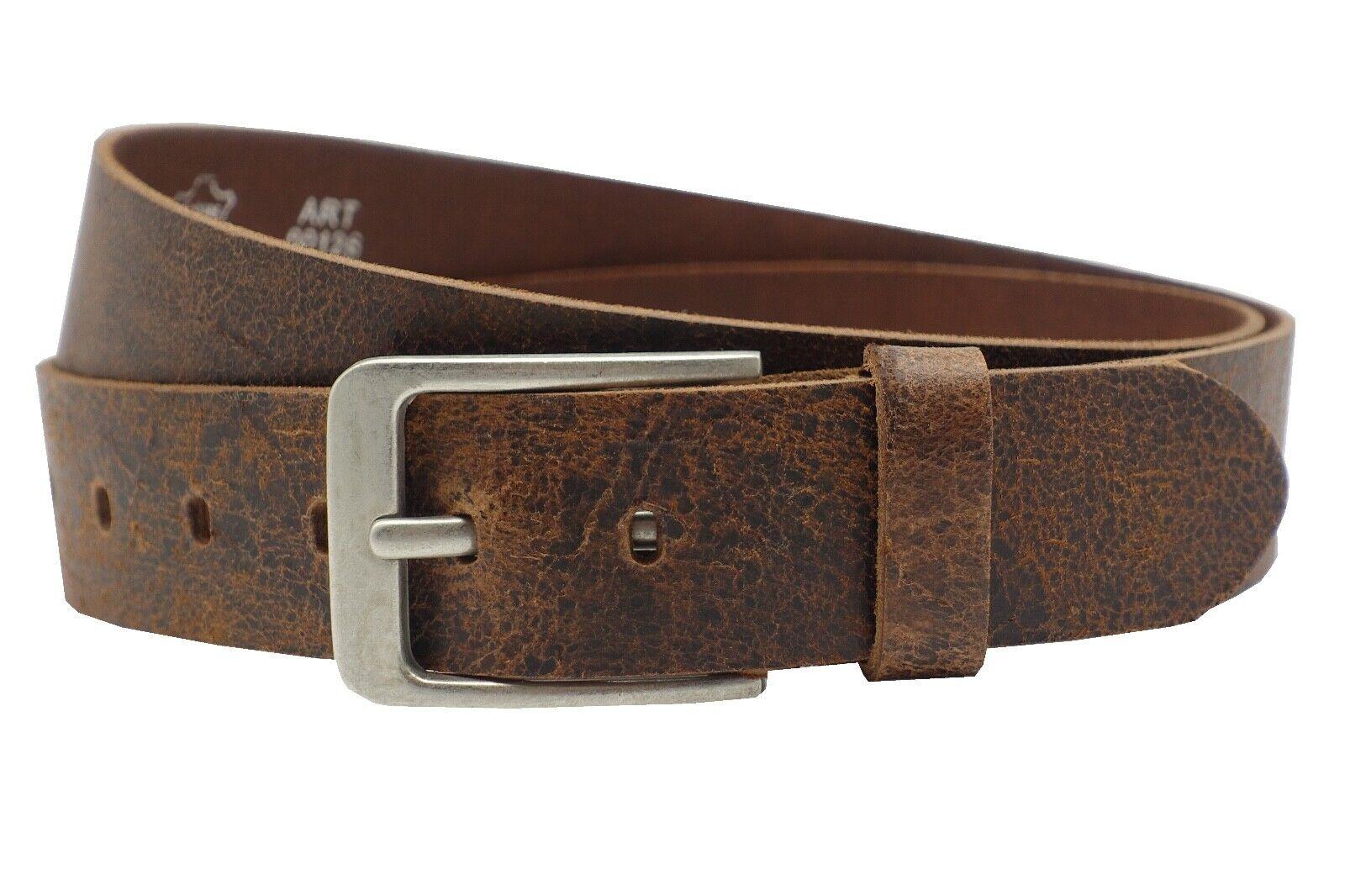 4cm chestnut echte Vollrindledergürtel Jeans leder Gürtel Damen Herren 80-145cm