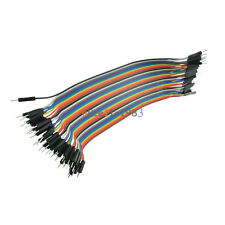 2pcs 40PCS Dupont wire jumper cables 20cm 2.54MM male to male For Arduino
