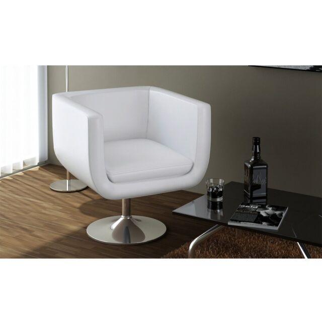 vidaXL LOUNGE Sessel Clubsessel Barhocker Drehstuhl Cocktailsessel Weiß 240040