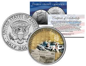 PRESIDENT-KENNEDY-ASSASSINATION-50th-Anniversary-JFK-Half-Dollar-U-S-Coin
