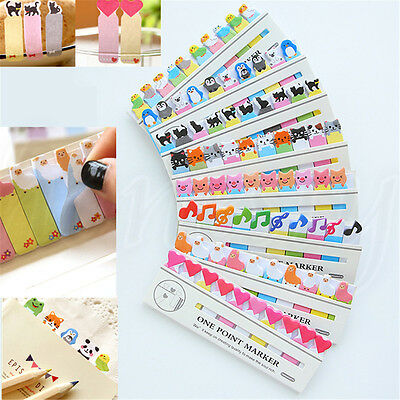 Animal Musical Note Heart Stick Bookmark Index Tab Marker Memo Flag Sticky Note