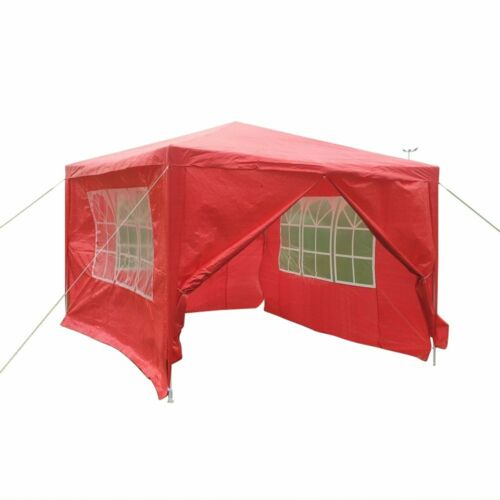 3MX3M 4M 6M PE Garden Gazebo Marquee Canopy Tent Awning Party Waterproof Outdoor