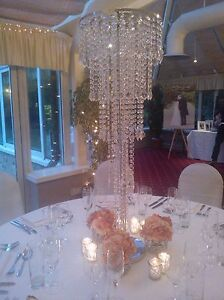 Crystal table chandelier centrepiece for hire ebay image is loading crystal table chandelier centrepiece for hire aloadofball Image collections