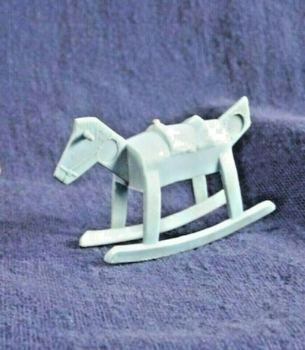 Blue Rocking Horse Vintage Dollhouse Marx ?