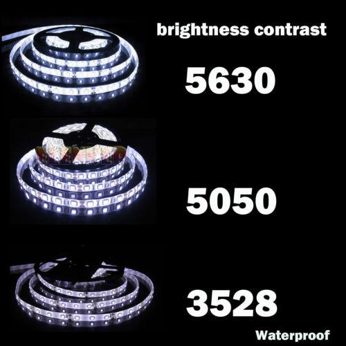 5M 10M SMD 3528 5050 5630 300LEDs RGB LED Strip Light 12V Power Supply Adapter