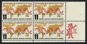 #1274 11c Int'L Telecomunicaciones Unión, Cremallera Bloque [ LR ], Cualquier 5=