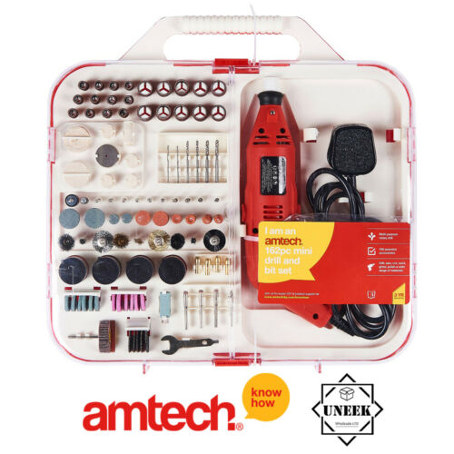 Mini Drill Bit Set 162 pcs Electric 130 W Rotatif Bijoux Making AmTech-F2830
