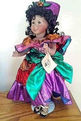 "Wendy Lawton Doll Brazil Carnival Cherished Custom Series Original Box & COA 14"""