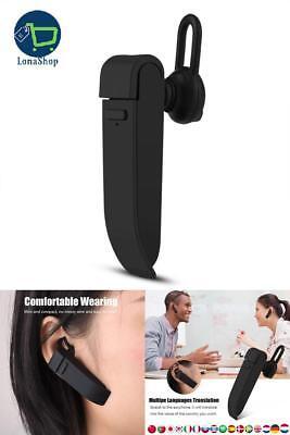 Auriculares Bluetooth inal/ámbricos Inteligentes para Aprender reuniones de Viaje Compatible con iOS//Android traductor de Voz port/átil en Varios Idiomas Traductor de Voz en Varios Idiomas