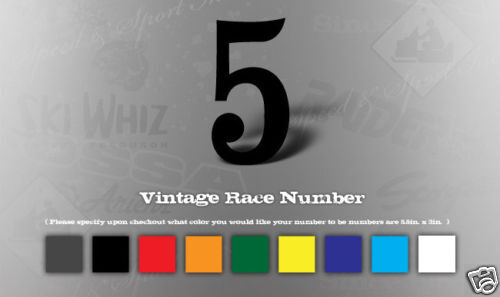 VINTAGE MOTOCROSS VINYL DECAL RACE NUMBERS DIGITS 3M