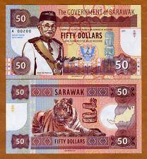 Sarawak, Malaysia, 50 dollars, 2017, Private Issue, UNC > Calm Tiger