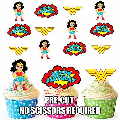 Cupcake Flags Birthday Party 3 Personalised PRE CUT Princess Cupcake Toppers
