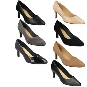 6f4103219555a Image is loading LADIES-CLARKS-LEATHER-POINTED-FORMAL-WORK-SLIP-ON-