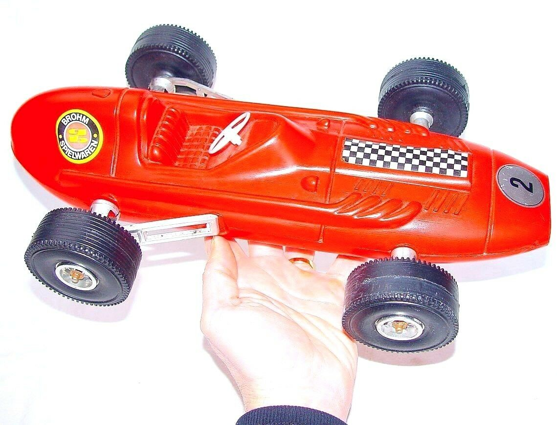 Brohm Alemania 1 12 Escarabajo o Ferrari F1 coche de carreras de plástico 43cm como nuevo Excepcional superior' 70