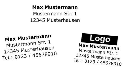 Logo Stempel Selbstfärber TRODAT Printy 4913 5-6 Zeilen mit Wunschtext