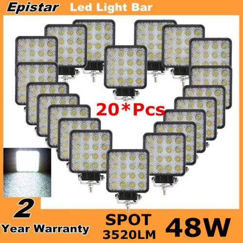 20x 48w spot flood led light work lamp truck boat car tractor bumper 12V 24V SUV
