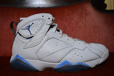purchase cheap 6ee33 ee12d NIKE AIR JORDAN 7 RETRO VII FRENCH BLUE 304775 107 SIZE 13 Columbia White |  eBay