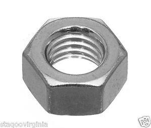 Hex Nuts M4 M5 M6 M8 M10 M12 High Tensile Steel pack of x 10 pack