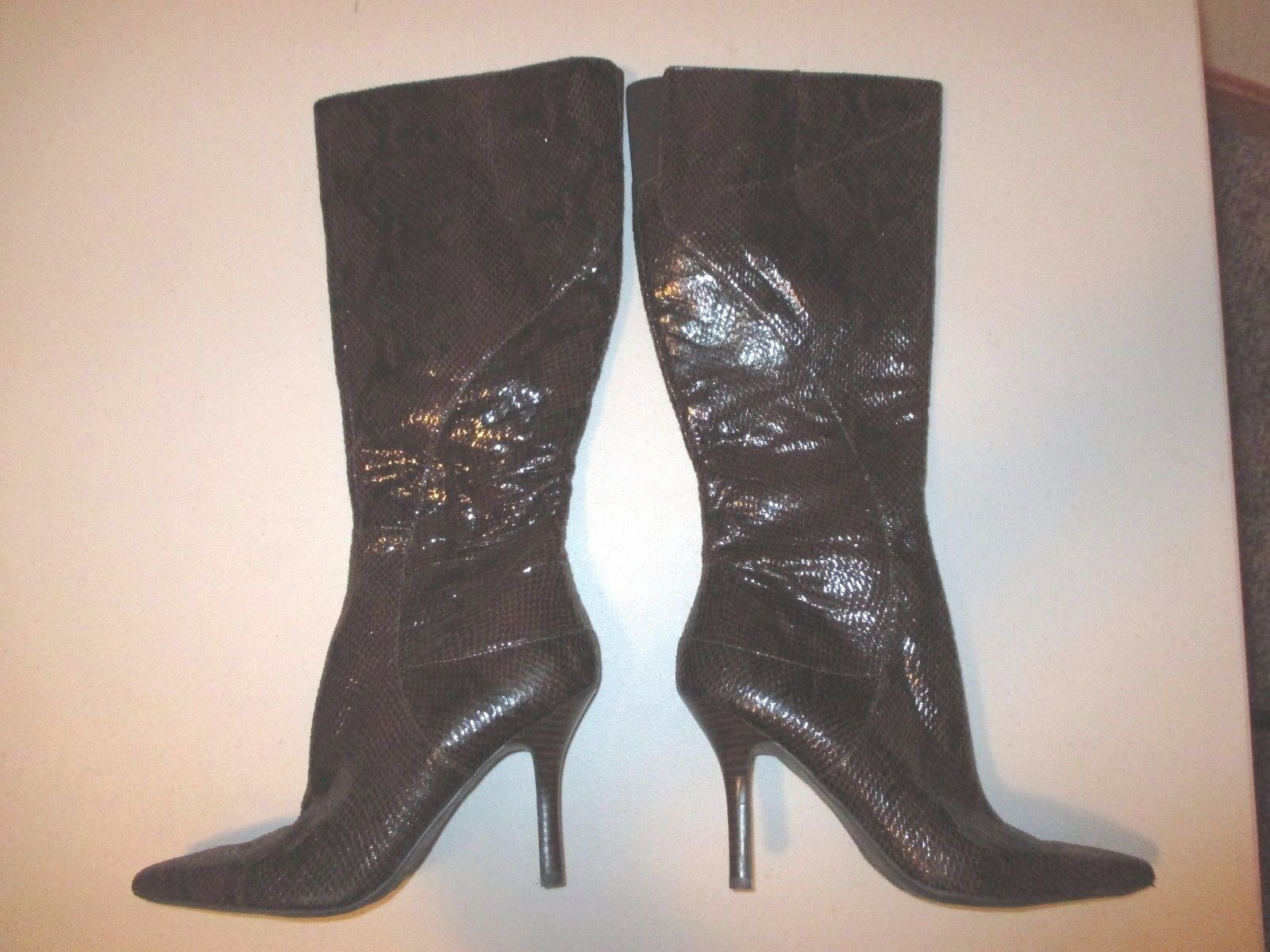 *** New Without Box*Nine West Blondey Boots Brown Size:5 Size:5 Brown Heel:2.5 8ab1cd